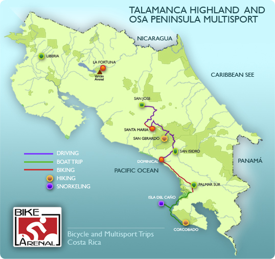 Maps About Costa Rica Arenal Volcano Photos Biodiversity Wildlife National Parks